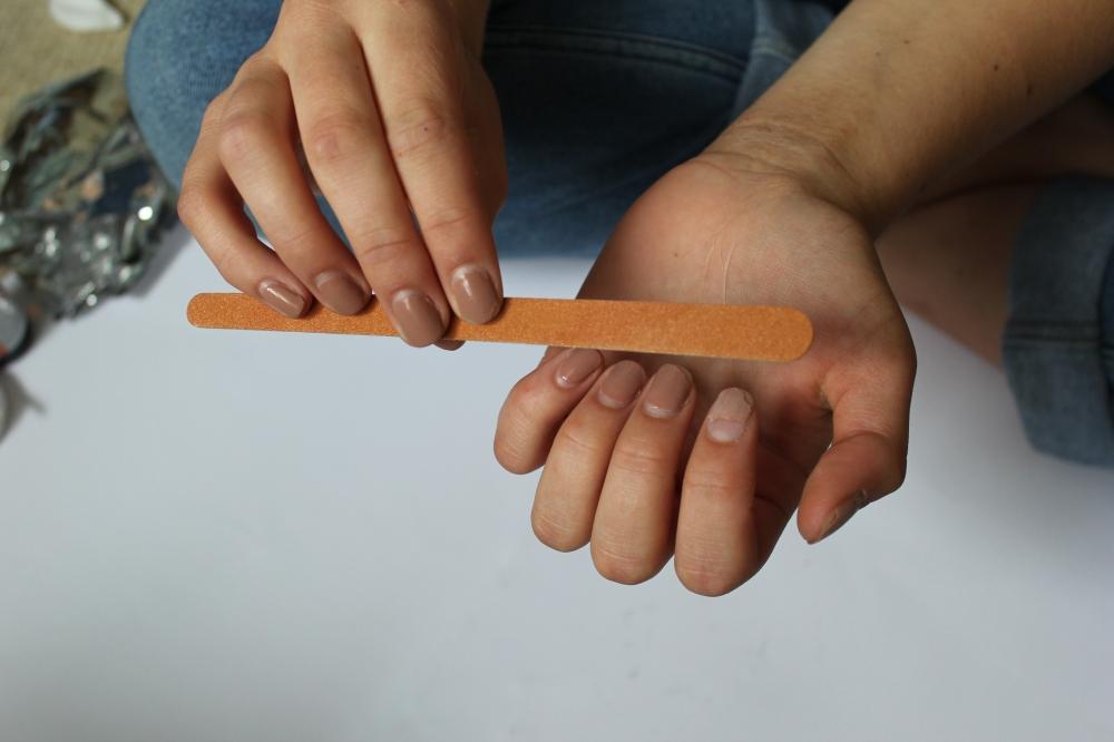 4. filing nails