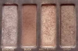 Third Eyeshadow from the right: Half Baked.